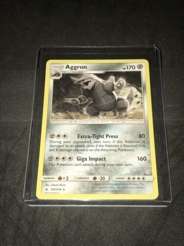 Brand New Pokemon Aggron 125/214 Rare