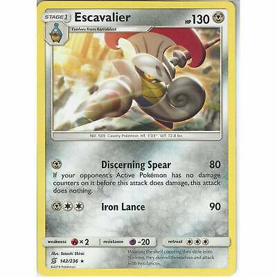 142/236 Escavalier   Rare   Pokemon Trading Card Game Unified Minds TCG SM-11