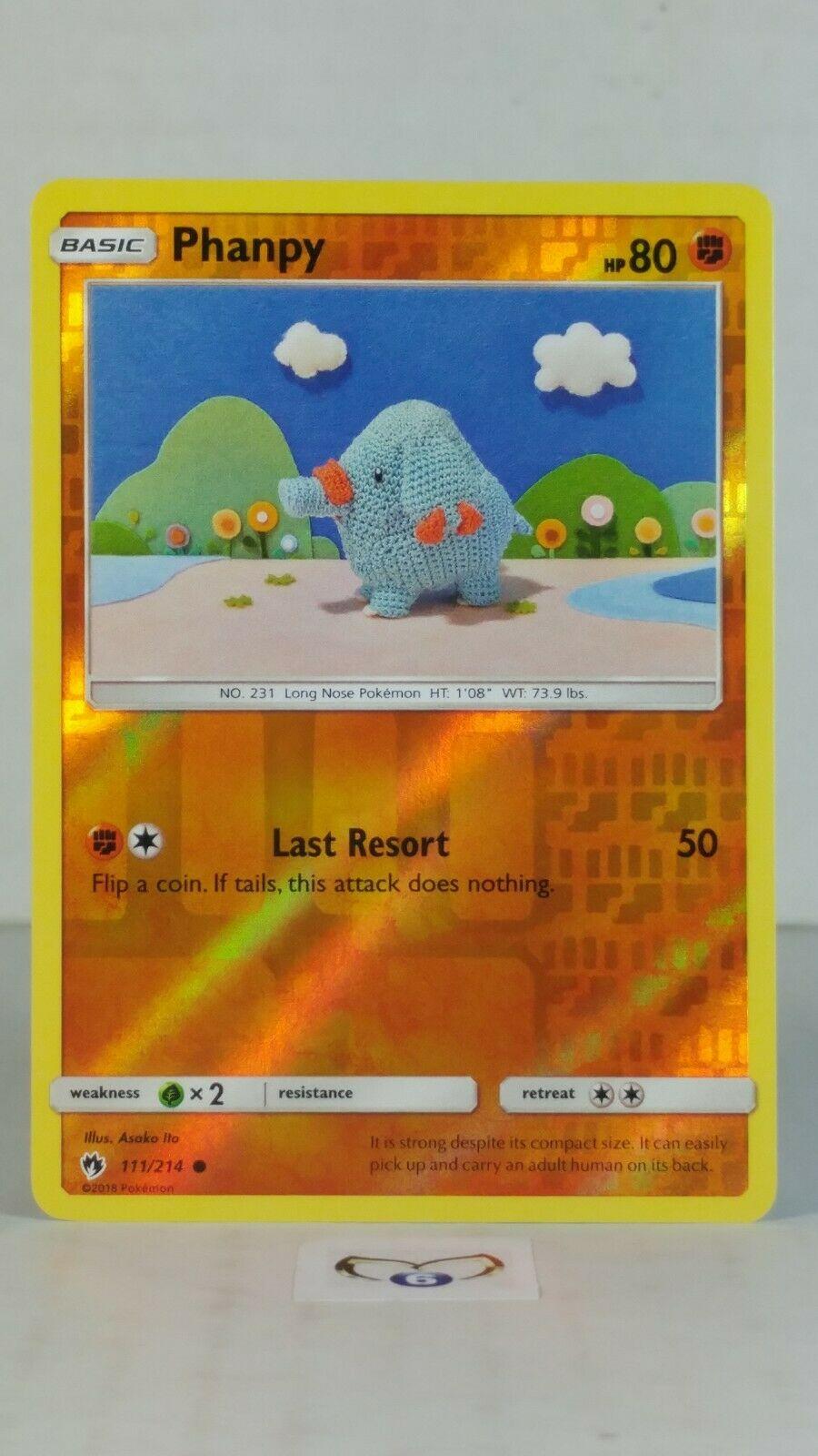4x Phanpy Common NM-Mint Pokemon SM10 Lost Thunder 111//214