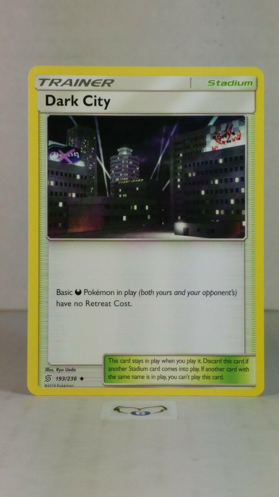 Unified Minds 193//236 1x Dark City Uncommon NM-Mint Pokemon SM11
