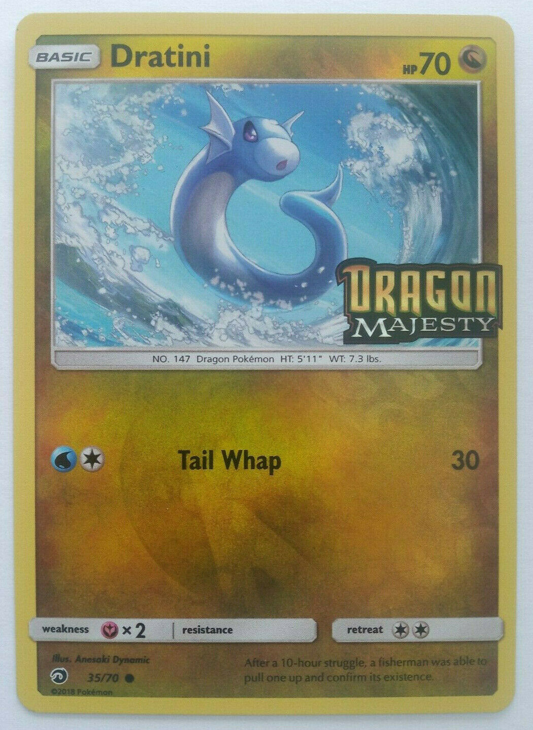 Pokemon Dratini 35//70Dragon MajestyPack Fresh Common Card