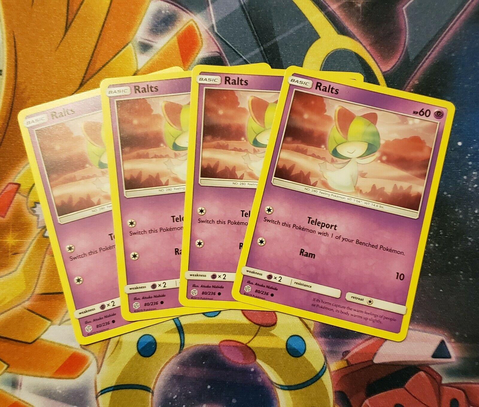Pokemon Cards 4x Ralts 80//236 Playset Cosmic Eclipse NM//M
