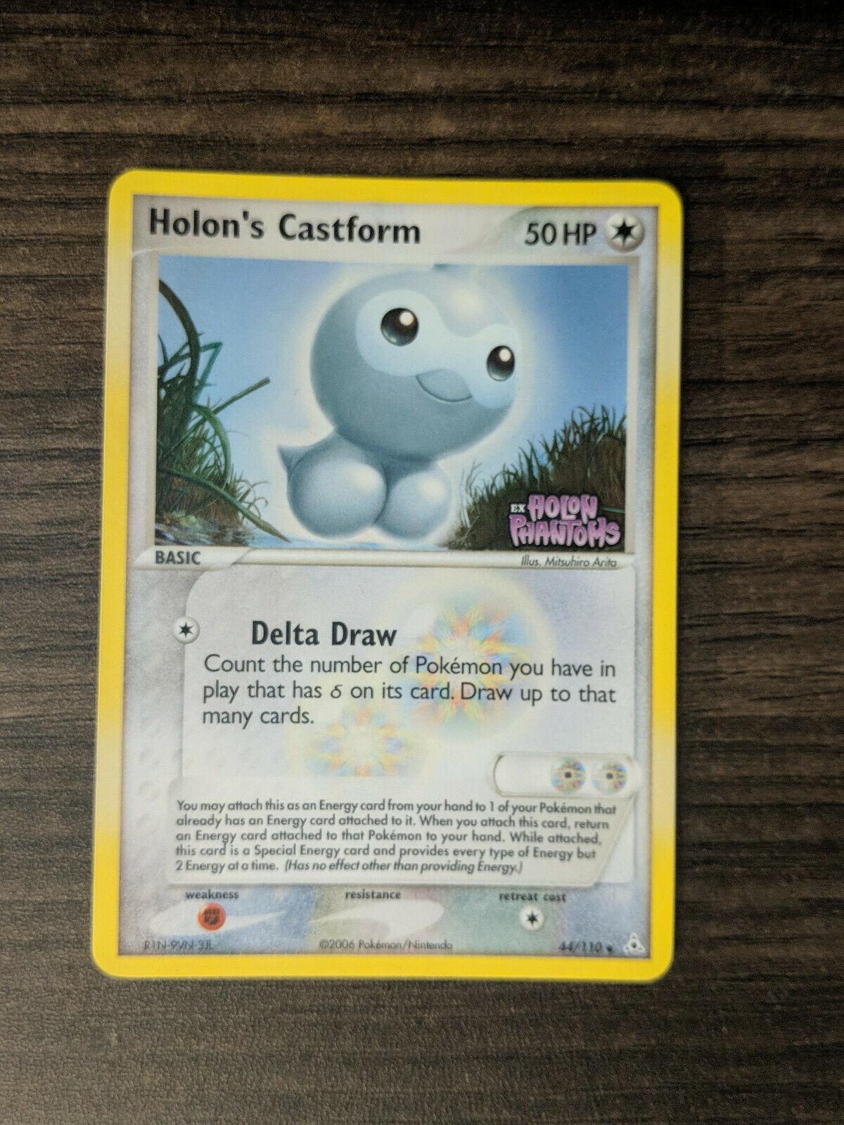 Holons Castform 44//110 Non-Holo Holon Phantoms Pokemon Card ~ LP//NM