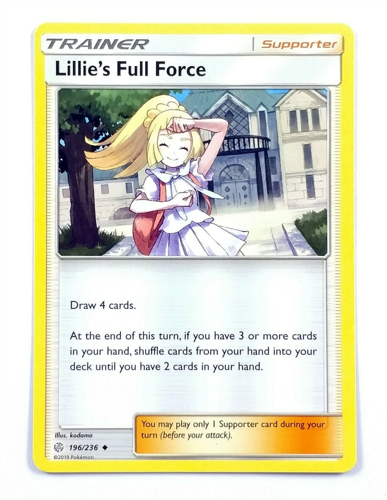 4x Lillie/'s Full Force 196//236 Cosmic Eclipse Pokemon Playset Uncommon NM