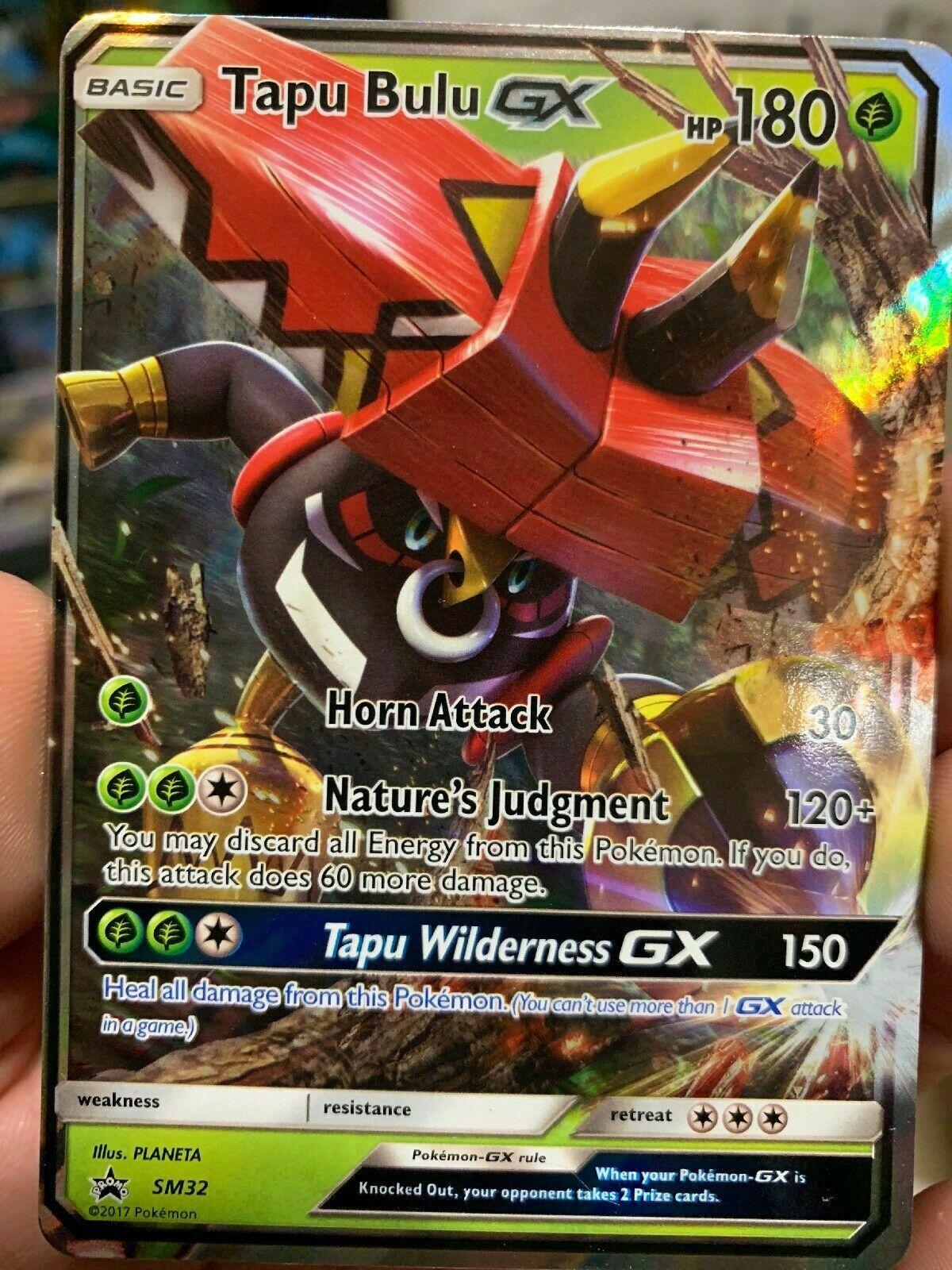 Pokemon Tapu Bulu GX SM32 Promo Near Mint Holo Sun Moon Ultra Rare Regular Art