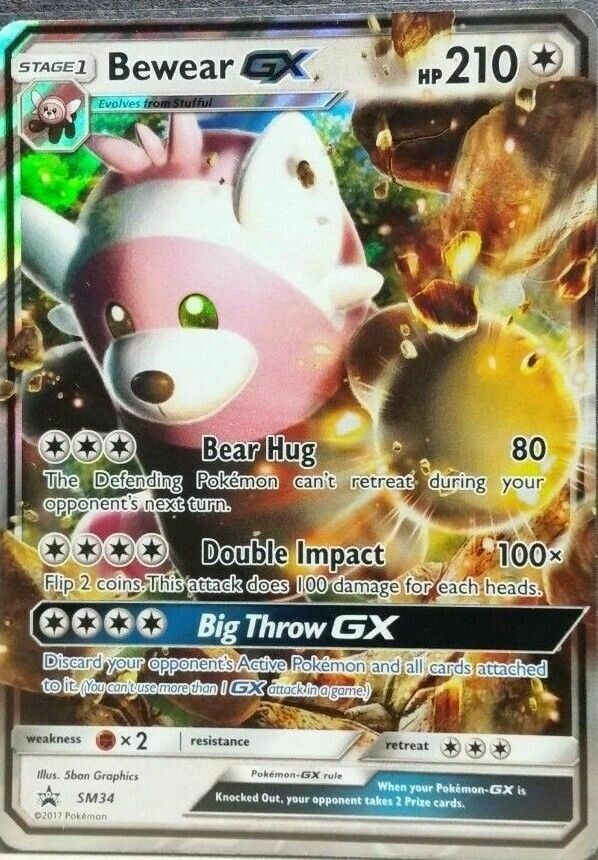 LP Pokemon BEWEAR GX Card BLACK STAR PROMO Set SM34 Ultra Rare Collection Box