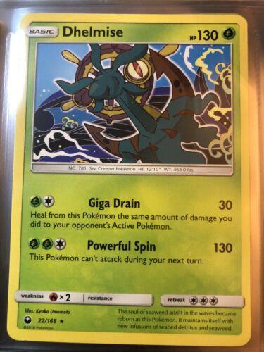 Dhelmise Pokemon Card 22/168 130 HP