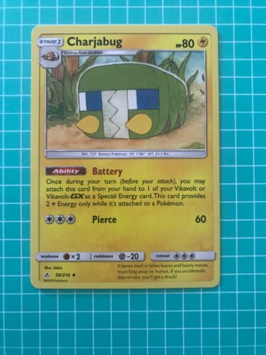 4x Charjabug Unbroken Reverse Holo NM-Mint Pokemon SM10 Uncommon 58//214