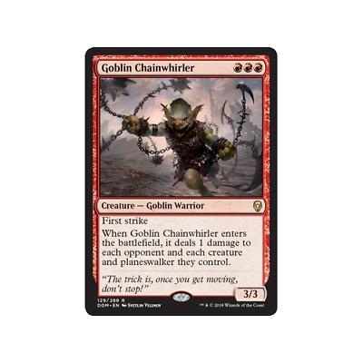 English Dominaria MTG Magic 4x Goblin Chainwhirler NM-Mint