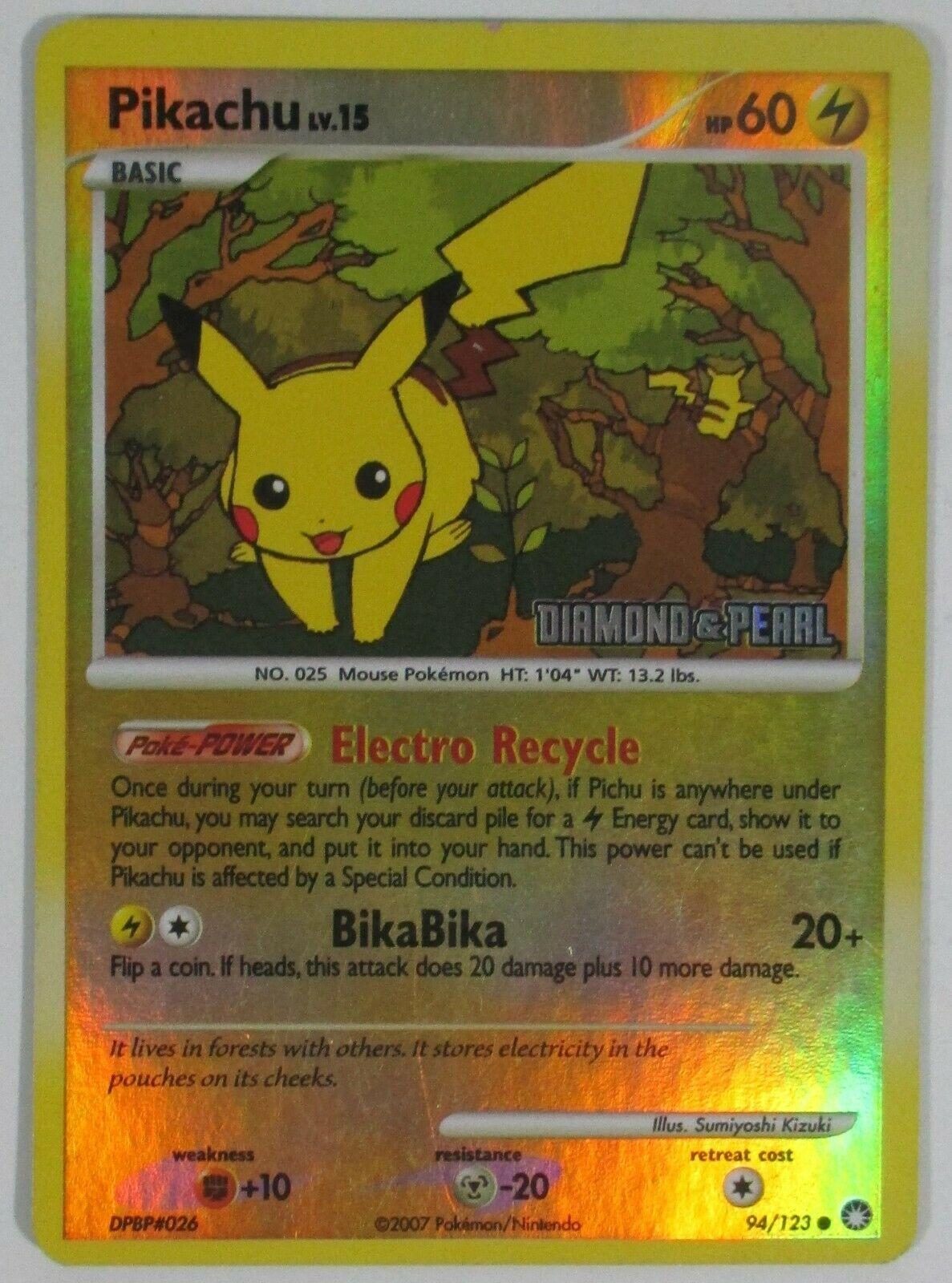 Common Pokemon Near Mint 1x Pikachu 94//123