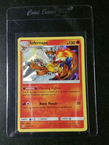 INFERNAPE 23/156 RARE HOLO MINT CARD ULTRA PRISM SLEEVED IN CARDSAVER