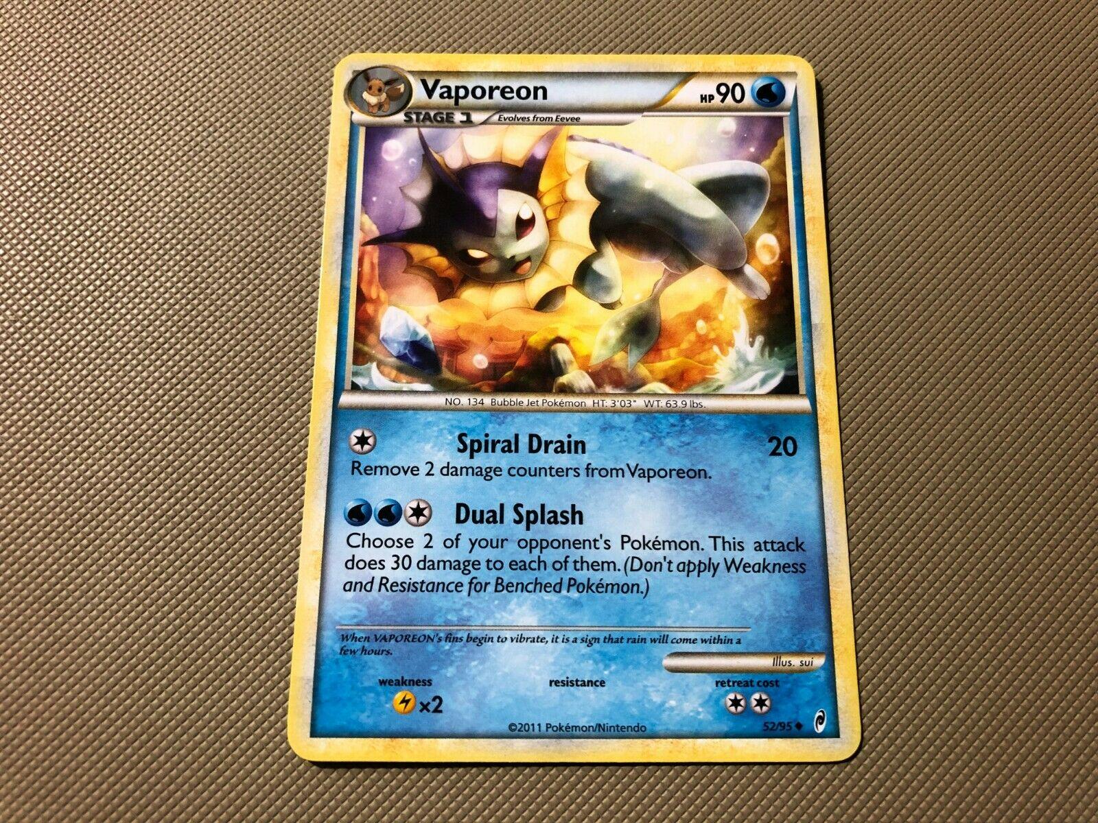 Pokemon Cards VAPOREON 52//95 CALL OF LEGENDS UNCOMMON E