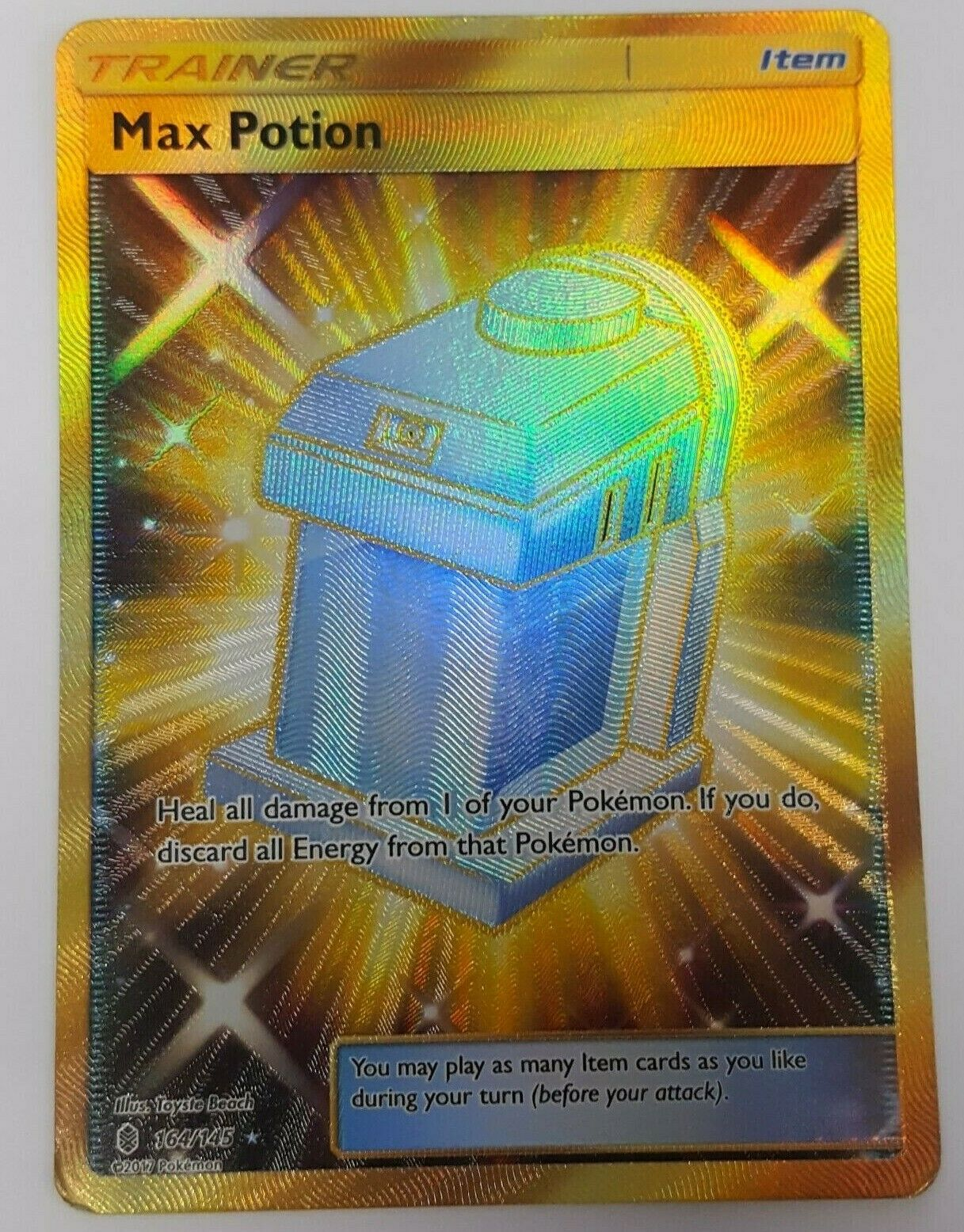 POKEMON SUN /& MOON—GUARDIANS RISING 164//145 Max Potion Secret Rare