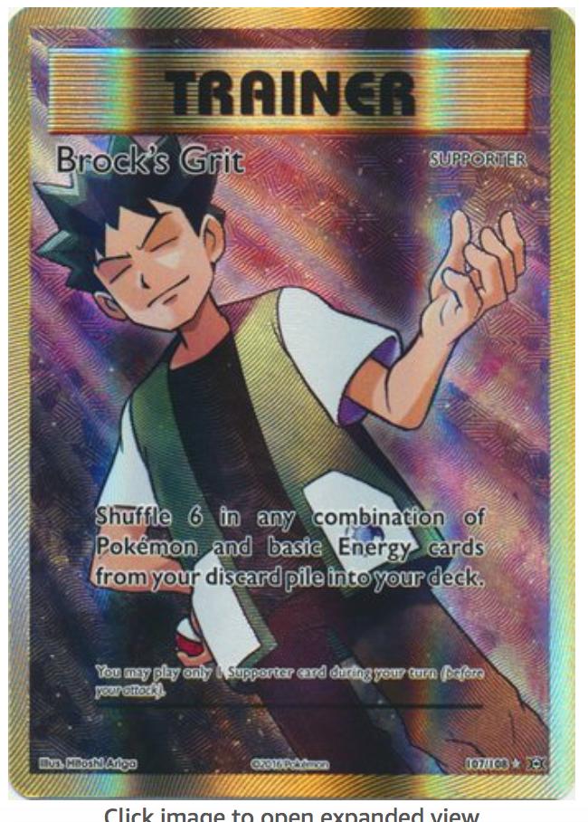 POKEMON TRAINER CARD BROCK/'S GIFT SUPPORTER 107//108 POKÉMON