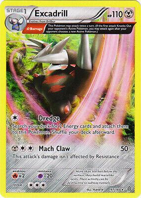 x1 Excadrill - 97/160 - Holo Rare Pokemon XY Primal Clash M/NM