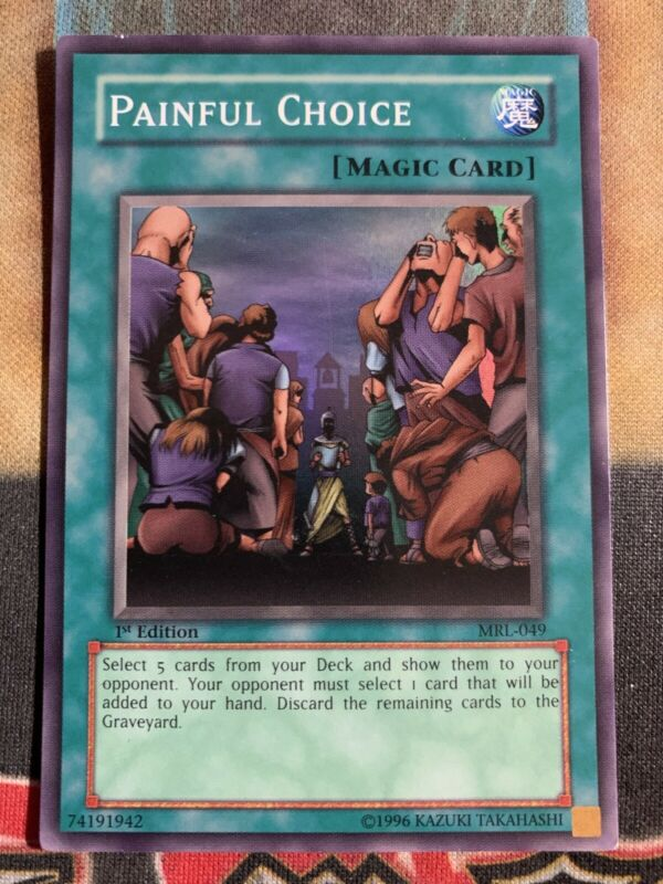 Unlimited Edition Common Yugioh 3x Painful Choice DB1-EN033