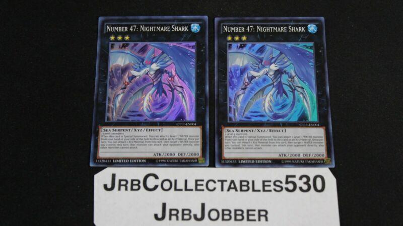 Super Yu-Gi-Oh! MINT Nightmare Shark ct11-en004 Ltd Ed Number 47