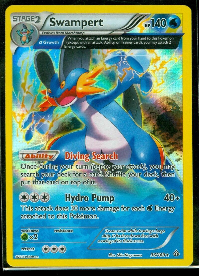 Pokemon Primal Clash Swampert 36//160 Rare Card