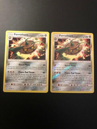 2x Pokemon - Ferrothorn 103/181 - Rare Team Up, Non Holo And Reverse Holo, NM/M - Image 1