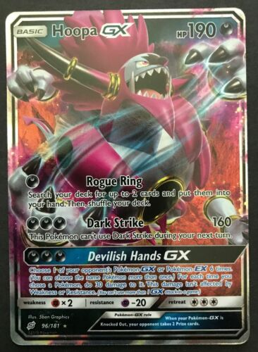 Hoopa GX 96//181 for Pokemon TCG Online Digital Card