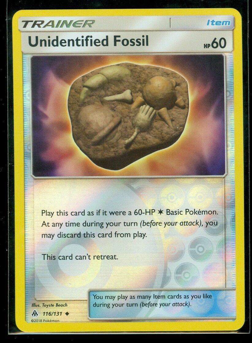 4x Unidentified Fossil 116//131 SM Forbidden Light Set Pokemon Card NEAR MINT