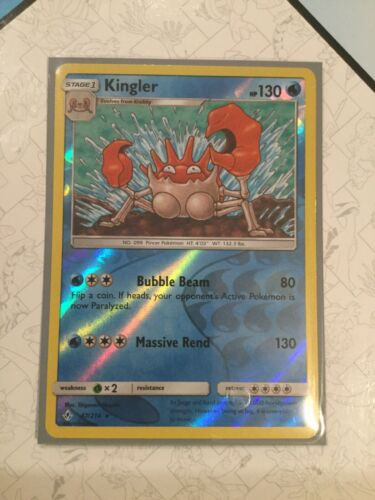 Kingler #47/214 (Reverse Holo Rare) | New Pokemon Card - Mint Condition