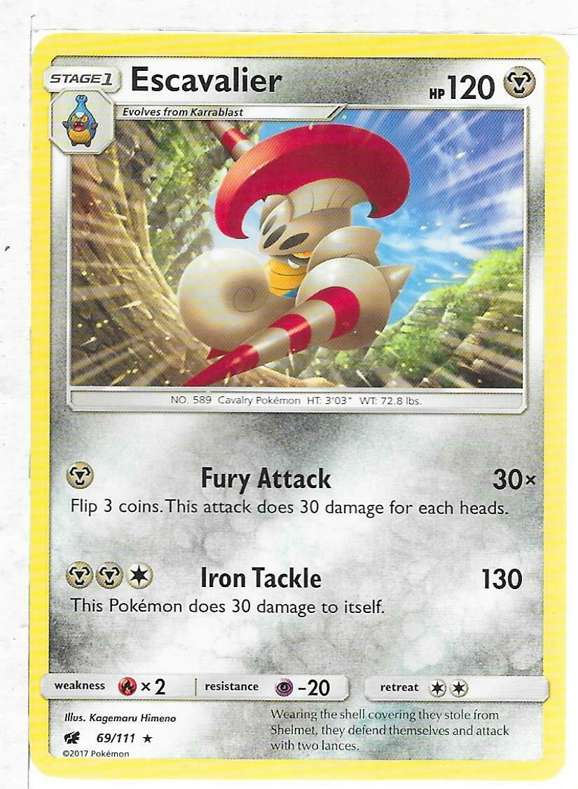 Pokemon Card ESCAVALIER 69/111 Non Holo Crimson Invasion Set
