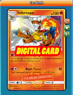 Infernape 23/156 for Pokemon TCG Online (PTCGO, Digital Card) - Image 1