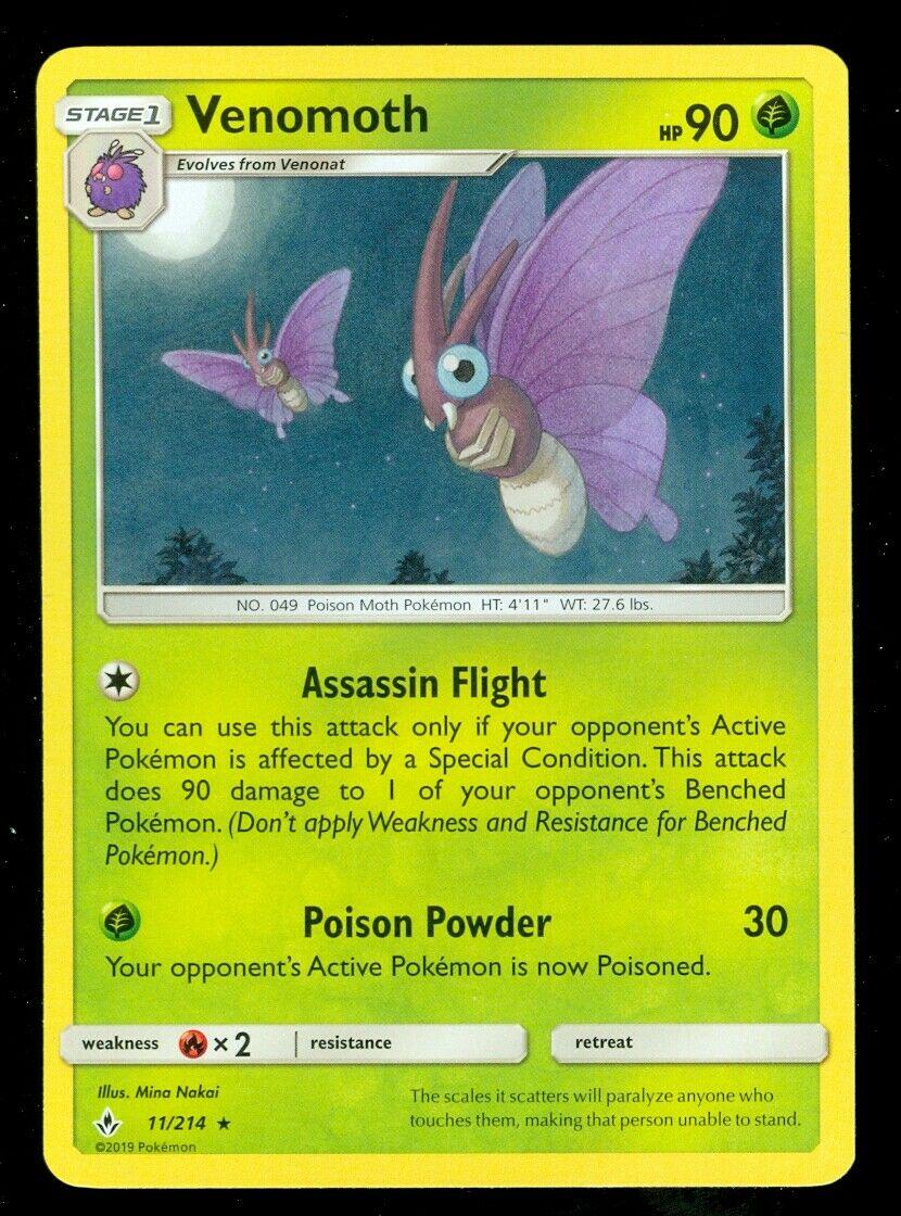 Pokemon VENOMOTH 11/214 Unbroken Bonds RARE - - MINT