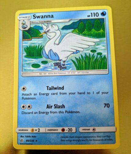 Pokemon Cards 4x Swanna 60//236 Playset Cosmic Eclipse NM//M