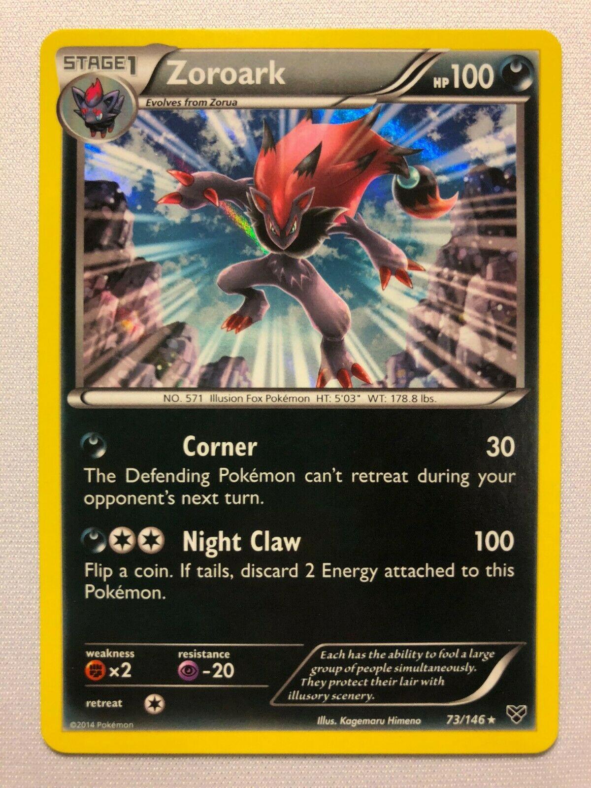 - NM//Mint 3 x Pokemon Card ZOROARK XY 73//146 holo-foil