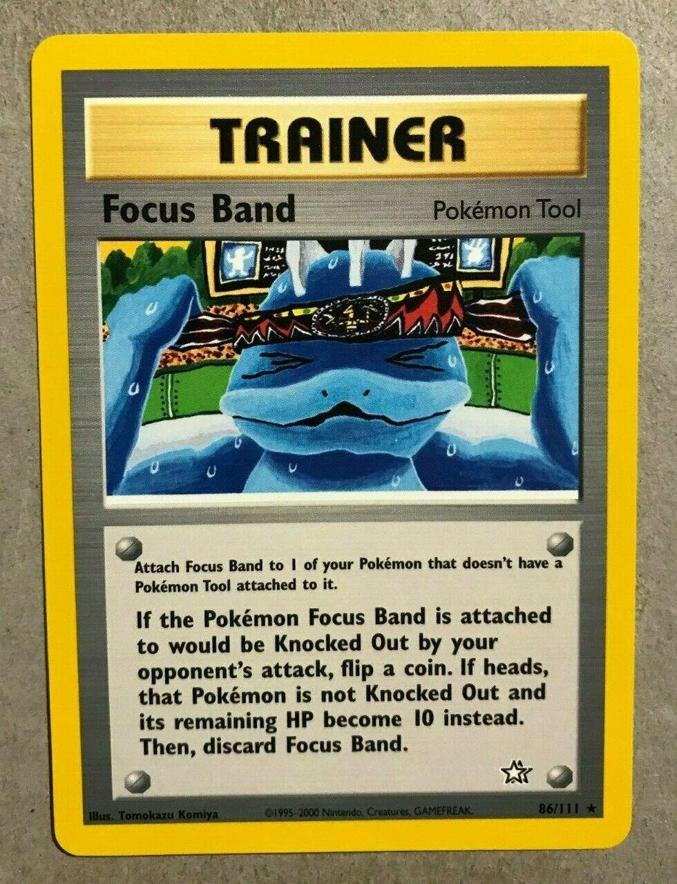 86//111 Pokemon 1st Edition Neo Genesis Focus Band Trainer Rare NEAR MINT