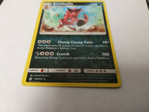 x1 Krookodile - 116/214 - Rare - Reverse Holo Pokemon SM10 Unbroken Bonds M/NM - Image 1