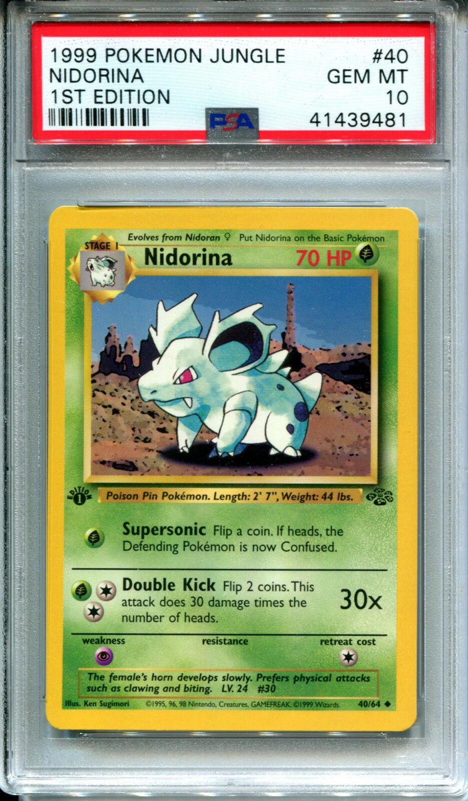Nidorina 40//64 Jungle Unlimited Uncommon MINT Pokemon