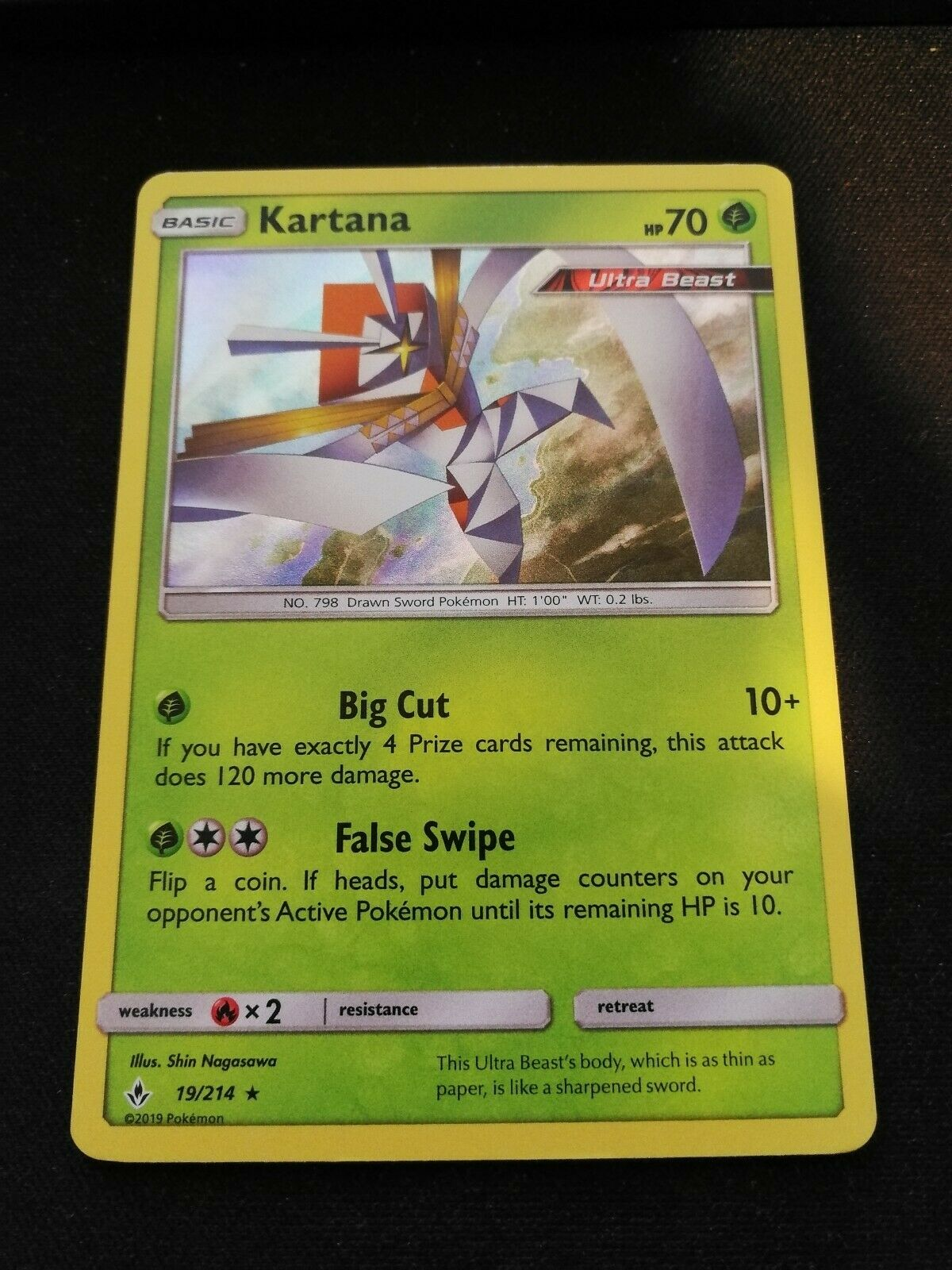 Kartana 19//214 S/&M Unbroken Bonds HOLO RARE PERFECT MINT Pokemon