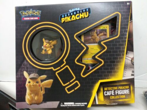 Pokemon SM170 Promo Detective Pikachu Cafe Figure Collection Card IN HAND NOW!