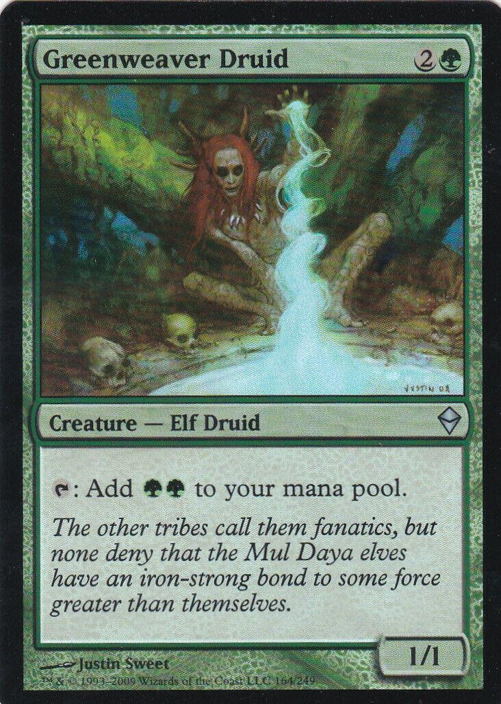 4 Greenweaver Druid ~ Near Mint Zendikar 4x x4 Playset MTG Magic Green Card Ulti
