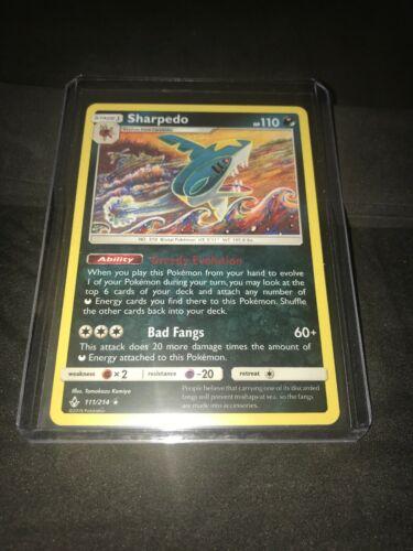 New Pokemon Unbroken Bonds 111/214 Sharpedo Rare Card