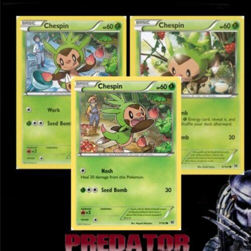 XY BREAKthrough Rev Holo Pokemon CHESPIN 8//162 MINT