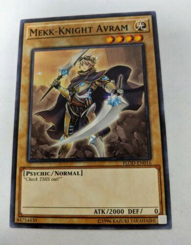 Flames of Destru FLOD-EN016 Common 1st Edition FLOD 3x Mekk-Knight Avram