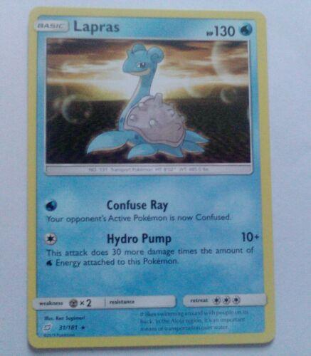 Lapras 31/181 SM Team Up RARE Pokemon Card NEAR MINT