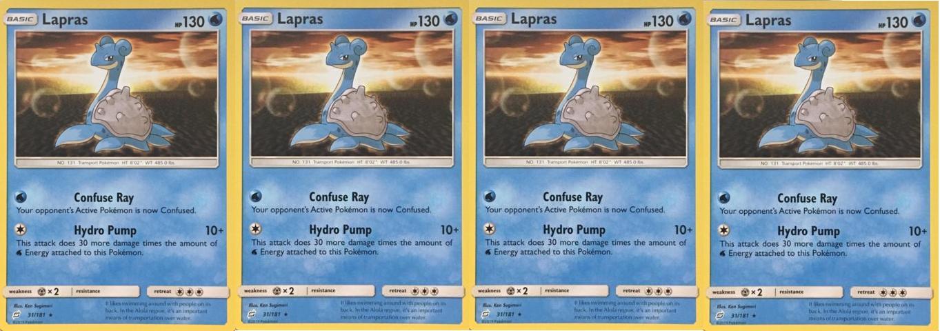 (31/181) -4X Lapras-  Pokemon Team Up- NORMAL Rare-