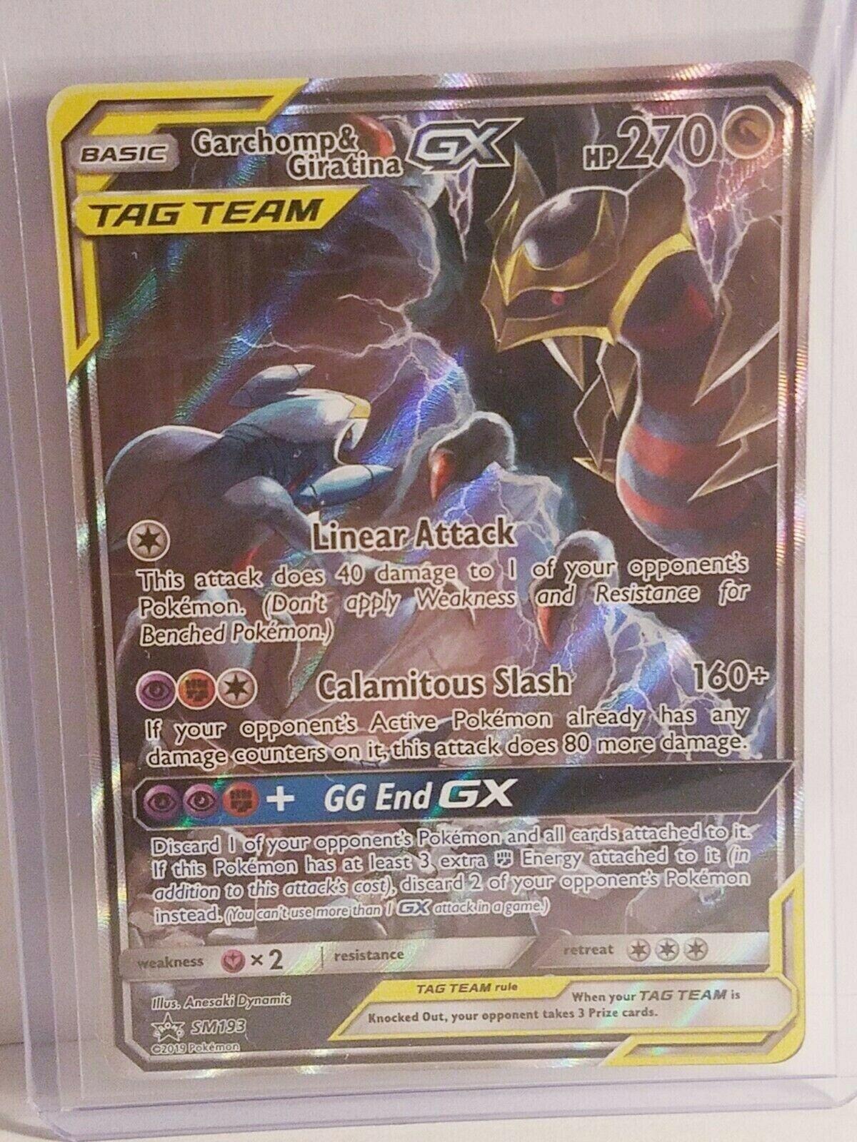 Garchomp /& Giratina Tag Team GX SM193 Black Star Promo Holo Mint Pokemon Card