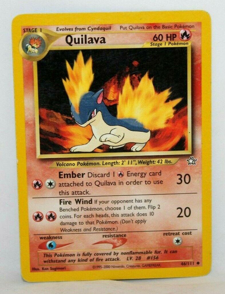 Uncommon NM QUILAVA Unlimited Neo Genesis Set Pokemon Card 46//111