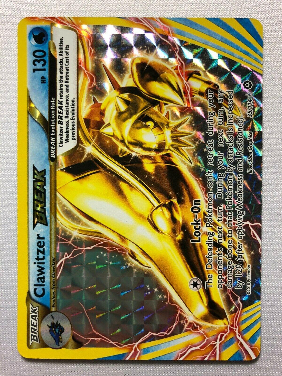 Pokemon XY STEAM SIEGE CLAWITZER BREAK 35//114 RARE BREAK