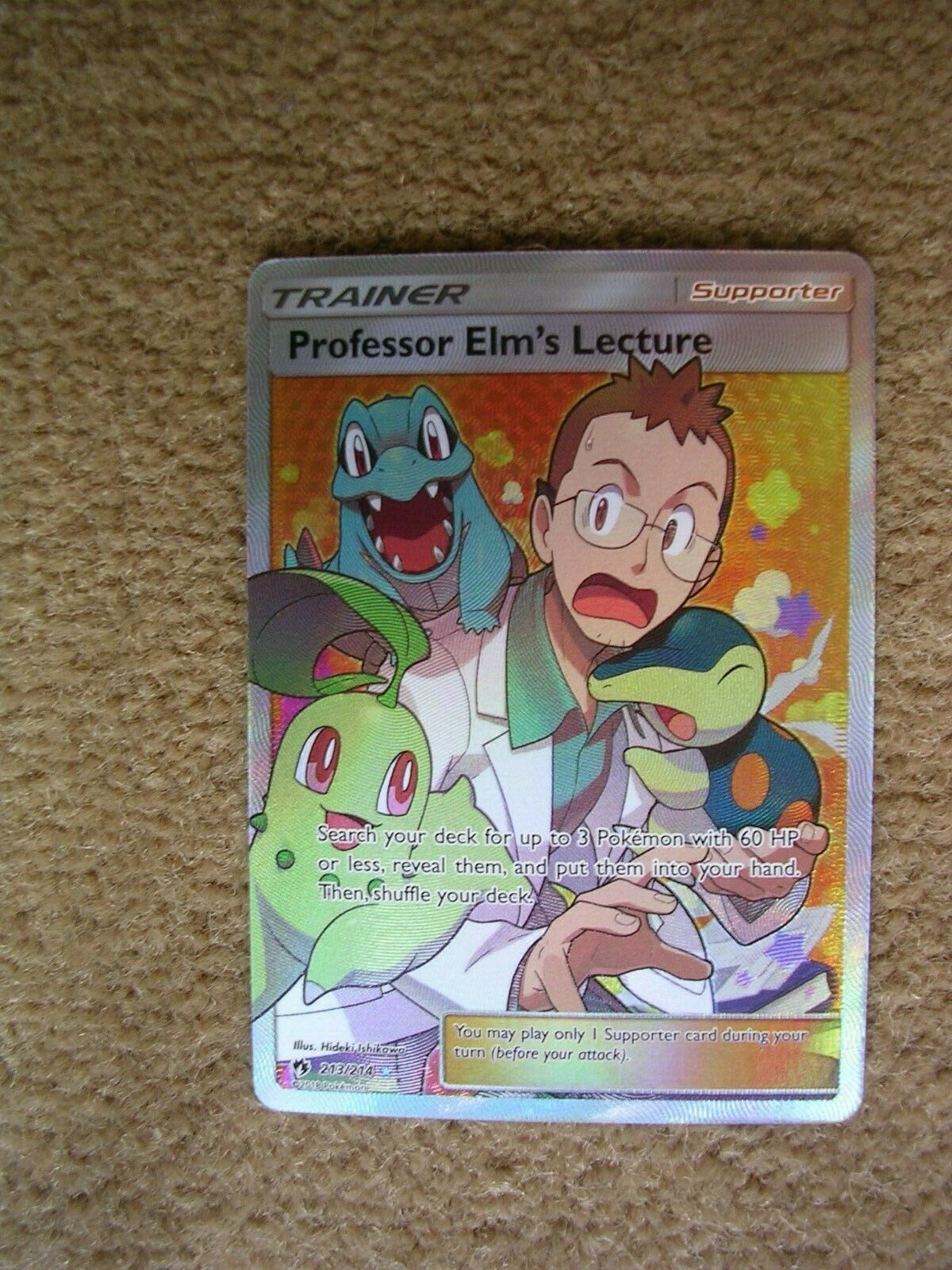 Pokemon Lost Thunder 213//214 Professor Elm's Lecture Full Art