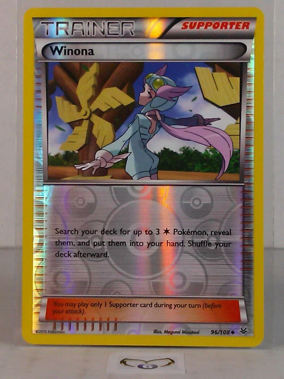 Uncommon Card NM 96//108 4x Pokemon Roaring Skies Winona