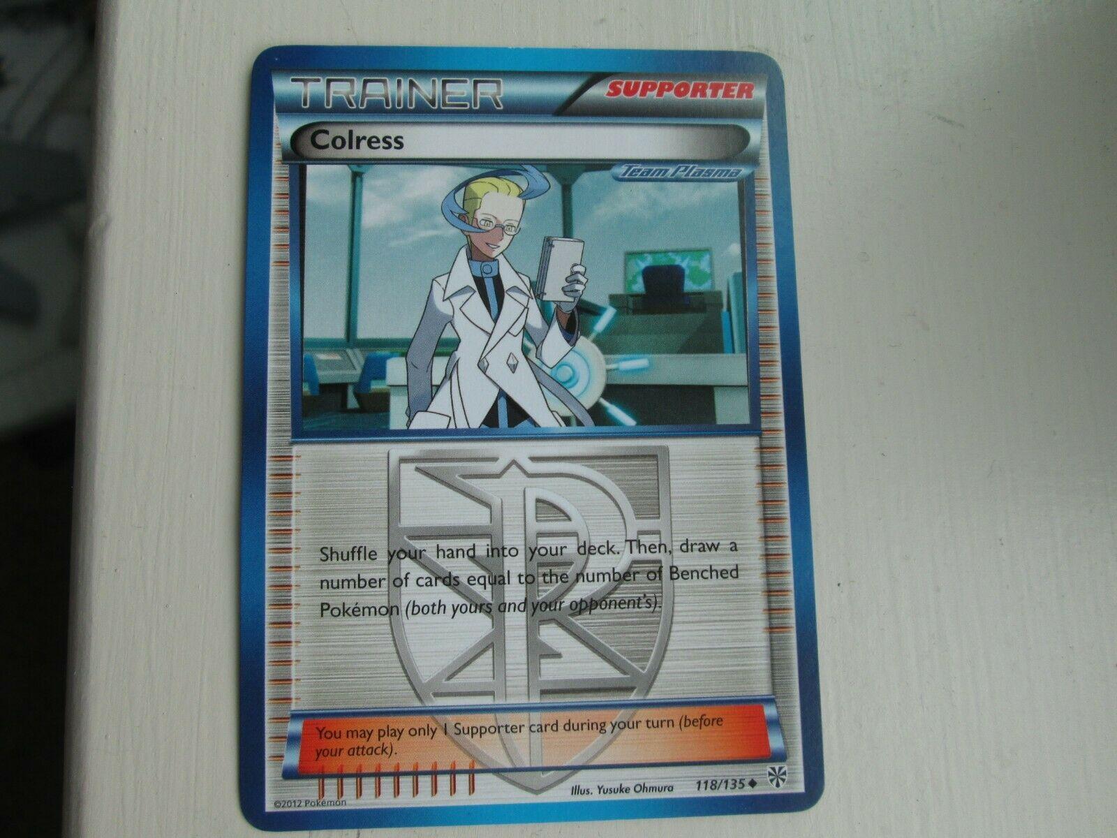 Colress Pokemon Trainer Card 118//135 Black /& White Plasma Storm