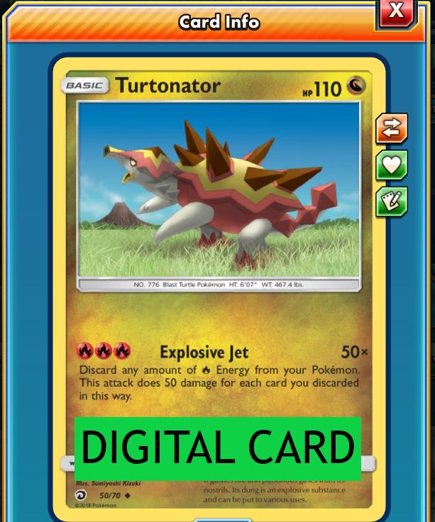 Turtonator 50//70 Dragon Majesty PTCGO Online Digital Card