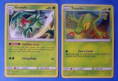 SM8 Lost Thunder Non  Holo NM//M 21//214 2x Grovyle Pokemon